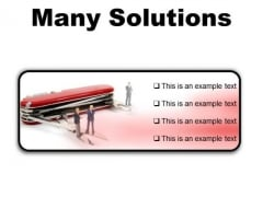 Many Solutions Business PowerPoint Presentation Slides R