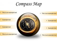 Map Compass Global PowerPoint Presentation Slides C