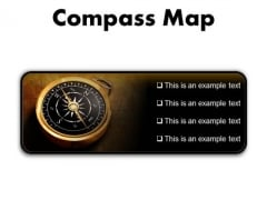 Map Compass Global PowerPoint Presentation Slides R