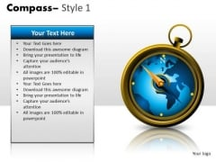 Map Compass PowerPoint Slides And Ppt Diagram Templates