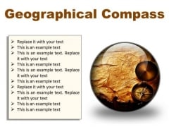Map With Compass Geographical PowerPoint Presentation Slides C