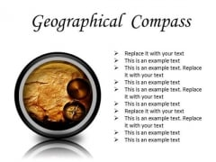 Map With Compass Geographical PowerPoint Presentation Slides Cc