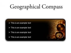 Map With Compass Geographical PowerPoint Presentation Slides R