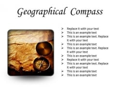 Map With Compass Geographical PowerPoint Presentation Slides S