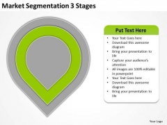 Market Segmentation 3 Stages Real Estate Business Plan Sample PowerPoint Slides