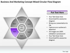 Marketing Concept Mixed Circular Flow Diagram Ppt Business Plan Outline PowerPoint Slides