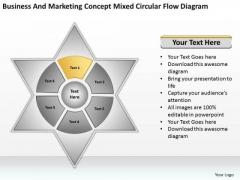 Marketing Concept Mixed Circular Flow Diagram Ppt Business Plan Program PowerPoint Slides