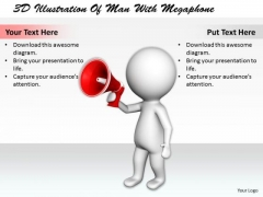 Marketing Concepts 3d Illustration Of Man With Megaphone Characters