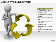 Marketing Concepts 3d Man With Recycle Symbol Adaptable Business