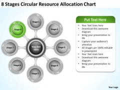 Marketing Concepts 8 Stages Circular Resource Allocation Chart Total