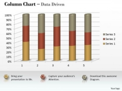 Marketing Data Analysis 3d Statistical Process Column Chart PowerPoint Templates