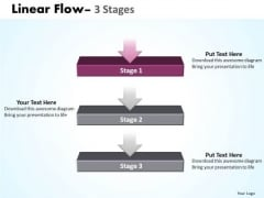 Marketing Ppt Template Linear Flow 3 Power Point Stage Business Plan PowerPoint 2 Graphic