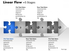 Marketing Ppt Template Linear Flow 5 Stages Style1 Time Management PowerPoint 2 Image