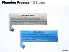 Marketing Ppt Template Planning Process Of 2 Stages Business Strategy PowerPoint 3 Image