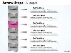 Marketing Ppt Template Vertical 6 Steps Working With Slide Numbers Downward 4 Image