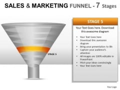 Marketing Sales Funnel With 7 Stages Ppt Slide Diagrams