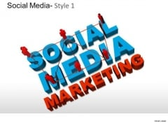 social media marketing powerpoint templates, backgrounds, Presentation templates