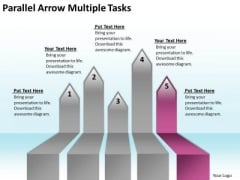 Massively Parallel Processing Arrow Multiple Tasks PowerPoint Templates