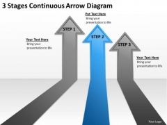 Massively Parallel Processing Database 3 Stages Continuous Arrow Diagram PowerPoint Slides
