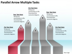 Massively Parallel Processing Database Arrow Multiple Tasks PowerPoint Templates