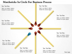 Matchsticks In Circle For Business Process PowerPoint Template