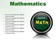 Mathematics Education PowerPoint Presentation Slides Cc