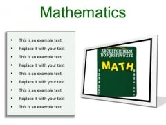 Mathematics Education PowerPoint Presentation Slides F