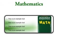 Mathematics Education PowerPoint Presentation Slides R