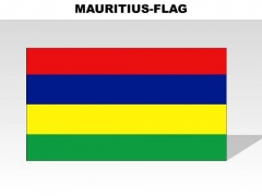 Mauritius Country PowerPoint Flags