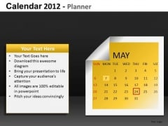 May 2012 Calendar PowerPoint Slides