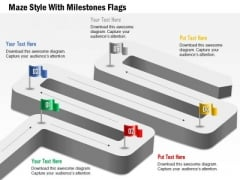 Maze Style With Milestones Flags Presentation Template