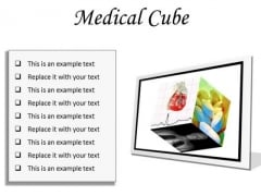 Medical Cube Health PowerPoint Presentation Slides F