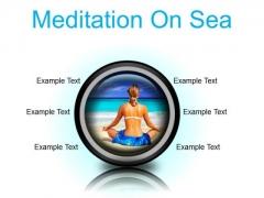 Meditation On Sea Beach PowerPoint Presentation Slides Cc