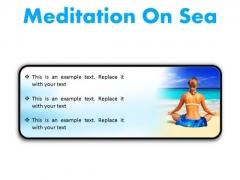 Meditation On Sea Beach PowerPoint Presentation Slides R