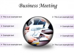 Meeting Business Success PowerPoint Presentation Slides C