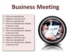 Meeting Business Success PowerPoint Presentation Slides Cc