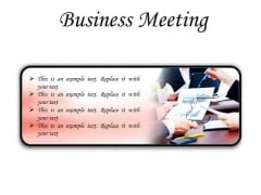 Meeting Business Success PowerPoint Presentation Slides R