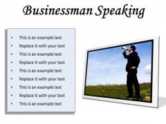 Megaphone Business PowerPoint Presentation Slides F