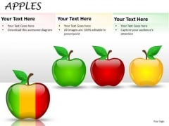 Merge Slices Of Apples PowerPoint Slides And Ppt Diagrams