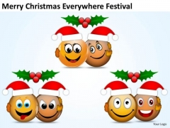 Merry Christmas Smileys Festival Lord Joy PowerPoint Slides