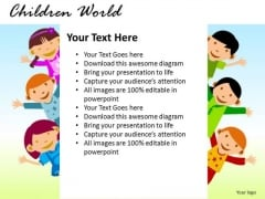Message Children World PowerPoint Slides And Ppt Templates
