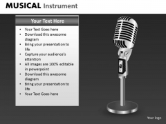 Microphone PowerPoint Template Ppt Slide With Microphone