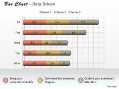 Microsoft Excel Data Analysis 3d Bar Chart As Research Tool PowerPoint Templates