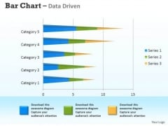 Microsoft Excel Data Analysis 3d Bar Chart For Analyzing Survey PowerPoint Templates