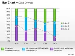Microsoft Excel Data Analysis Bar Graph PowerPoint Templates