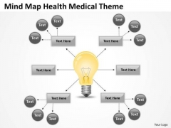 Mind Map Health Medical Theme Ppt Small Business Plan Templates PowerPoint