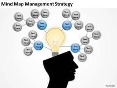 Mind Map Management Strategy Ppt Business Plan Template PowerPoint Slides