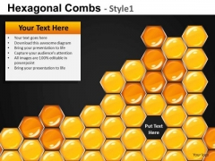 Missing Hexagon In A Comb PowerPoint Slides