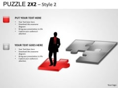 Missing Piece Puzzle 2x2 2 PowerPoint Slides And Ppt Diagram Templates