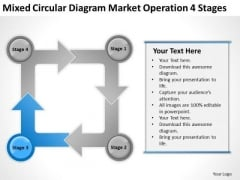 Mixed Circular Diagram Market Operation 4 Stages Marketing Plan PowerPoint Slides